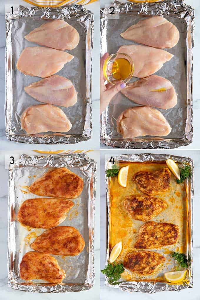 Cómo hornear fotos de pechuga de pollo paso a paso.