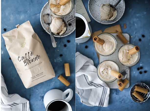 Receta Affogato Helado con café Café helado Tchibo Caffè Canela rubia de azúcar y amor bebida de verano Postre canela y amor de azúcar Blog de comida Volver blog cómo hacer affogato