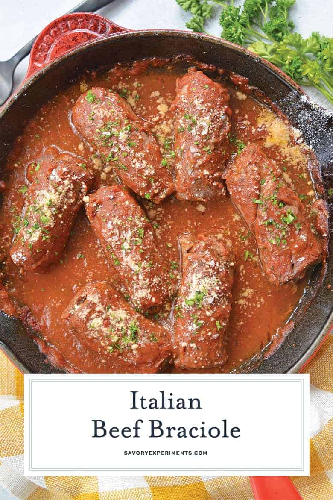 Braciole italiano de ternera para Pinterest