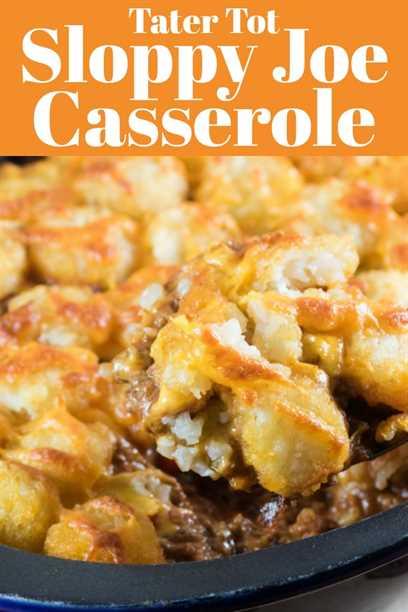Este Tater Tot Sloppy Joe Casserole es un éxito familiar en nuestra casa y estoy seguro de que será suyo. Es un gran giro en una receta clásica de tu infancia. #tatertots #sloppyjoe #cazuela #weeknightdinner