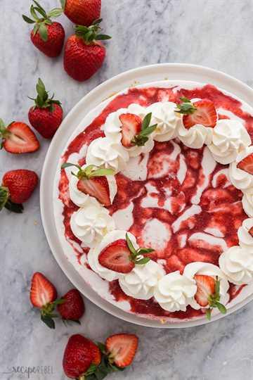 tarta de fresa pastel de helado sobrecarga