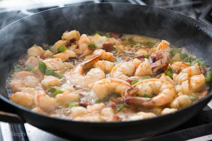 How to make shrimp and semolina