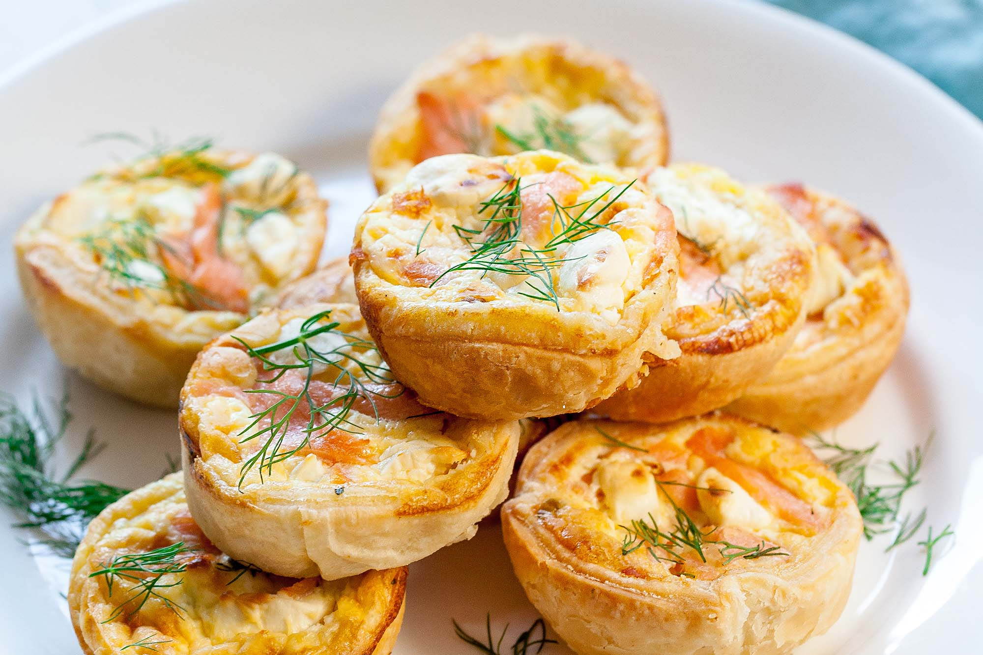 Mini Quiches De Salmón