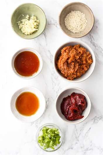 ingredientes para ssamjang