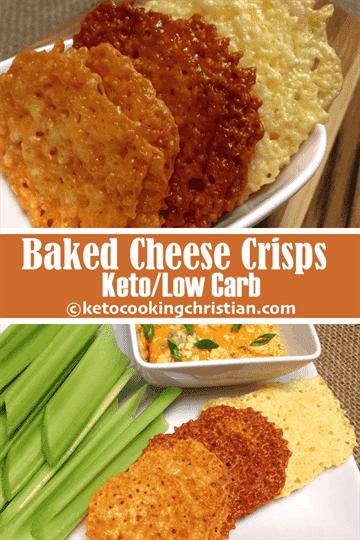 Galletas crujientes de queso al horno - Keto y bajo en carbohidratos