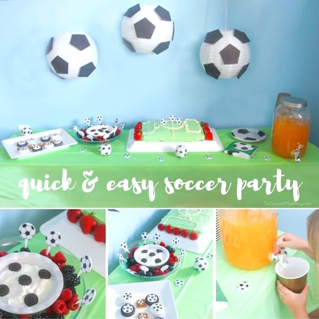 Celebrate your little soccer star with this easy and inexpensive soccer birthday party! (Food, supplies and party favors for $ 50 or less!)
