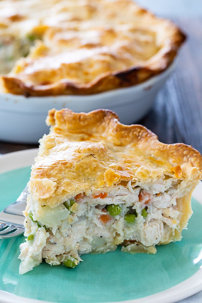 Easy chicken pie with double crust