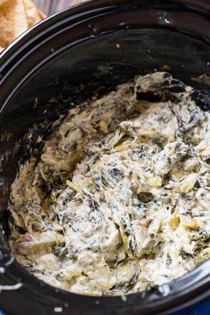 Dip de Alcachofa y Espinacas a Cocción Lenta