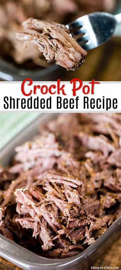 Las posibilidades son infinitas con esta receta de carne desmenuzada Crock Pot. La olla de cocción lenta hace todo el trabajo y los resultados son carne de res tierna y sabrosa.