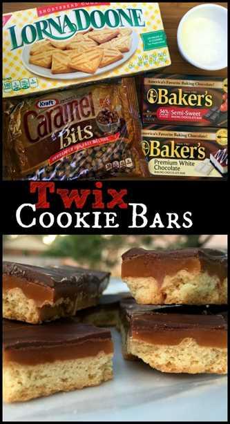 Barras de galletas Twix   Recetas Latinas!