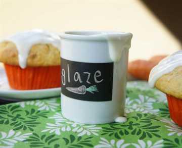 Glaseado de queso crema para muffins de pastel de zanahoria