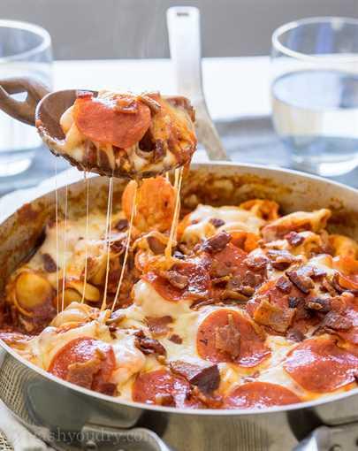 Sartén Tortellini de amante de la carne