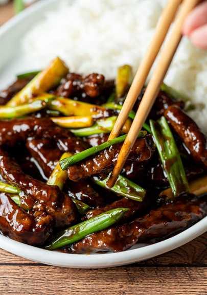 ¡Mmm! ¡Esta receta de carne de mongol súper rápida y fácil es picante y deliciosa!