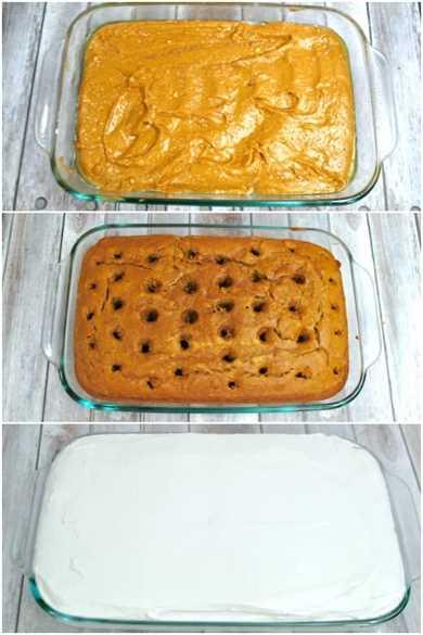 Cómo hacer una foto paso a paso de un pastel de calabaza
