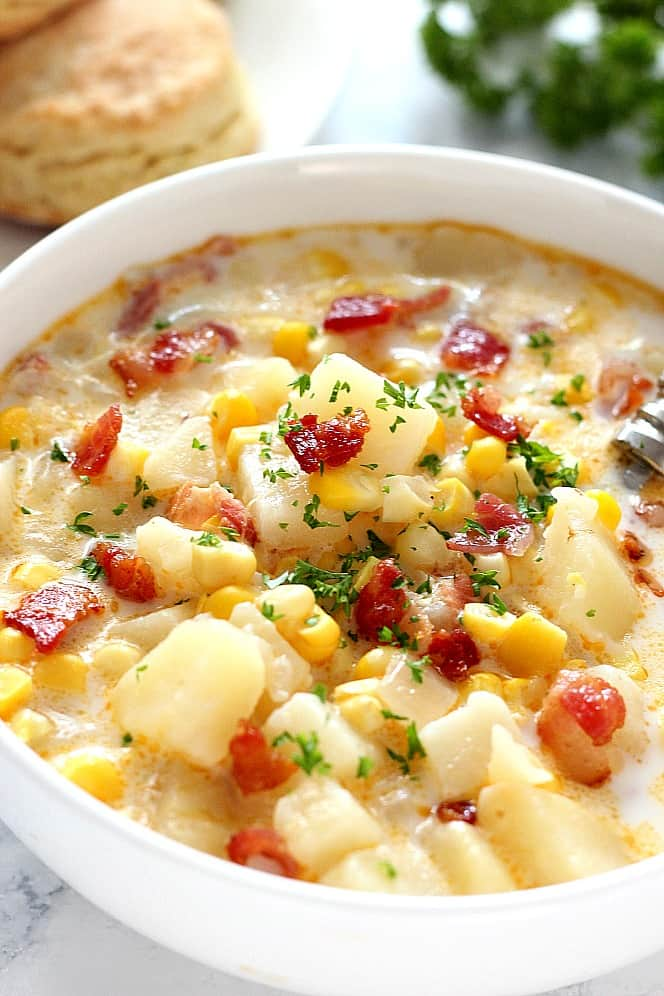 instant potted corn chowder 2 instant potted corn chowder with bacon recipe