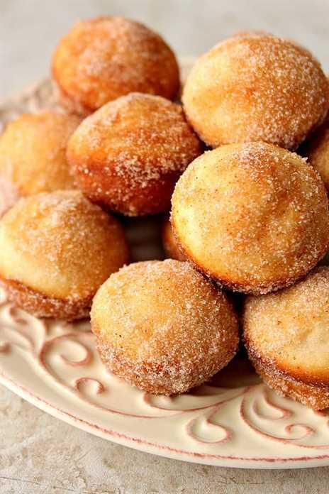 magdalenas de donas de azúcar con canela 2 magdalenas de mini donas de azúcar con canela