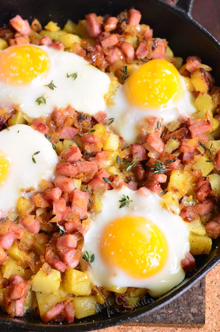 Honey Mustard Ham Egg and Baked Potato. This baked potato is a great way to use up some festive ham and serve a delicious family brunch at the same time.