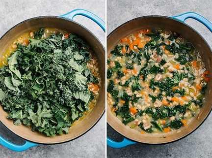 Kale se agrega a la sopa