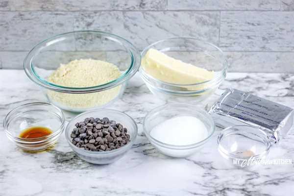 Imagen de ingredientes para bombas de grasa de masa para galletas