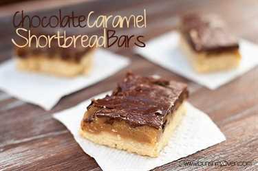 barras de mantequilla de chocolate y caramelo