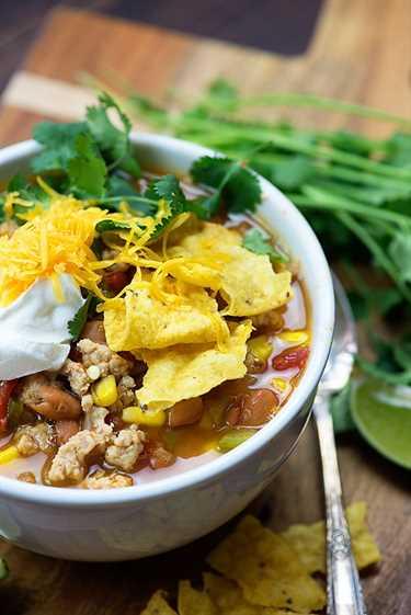 ¡Nos encanta esta sopa de taco para los observadores de peso!