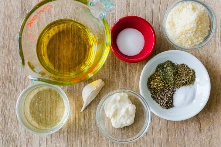 Ingredientes para aderezo casero