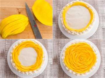 ¡Este pastel de mango está lleno de sabor a mango fresco! Una receta de pastel de mango impresionante y espectacular con solo 9 ingredientes. Es sorprendentemente simple. El | natashaskitchen.com