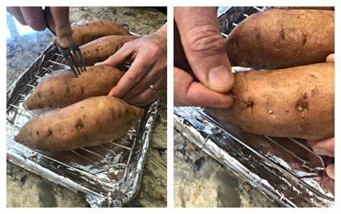 Cómo hornear una batata