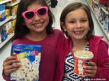 mezclar un momento con pastel funfetti - las chicas