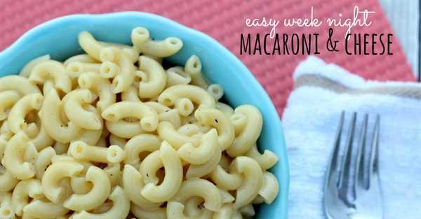 receta fácil de macarrones con queso - facebook