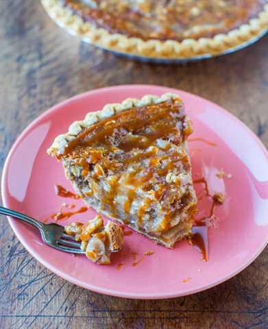 Pastel de Crumble de Manzana y Caramelo