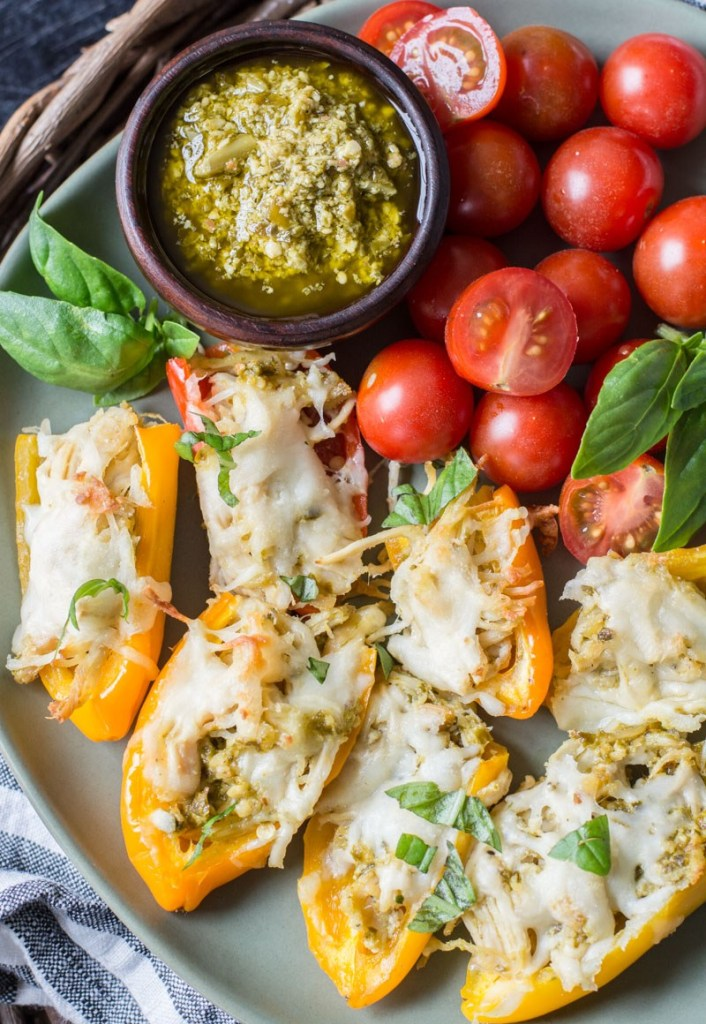 https://www.maebells.com/chicken-and-pesto-stuffed-sweet-peppers/
