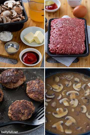 Fotos de proceso paso a paso para Salisbury Steak