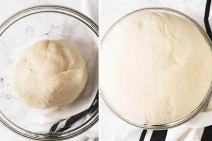 Aumento de la masa en un recipiente de vidrio para hacer pretzel suave