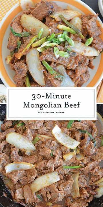 Carne mongol para Pinterest