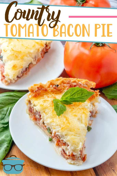 Receta de pastel de tocino y tomate del país de The Country Cook
