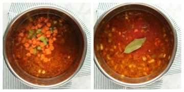 paso 2 Sopa de hamburguesa IP Sopa de hamburguesa instantánea