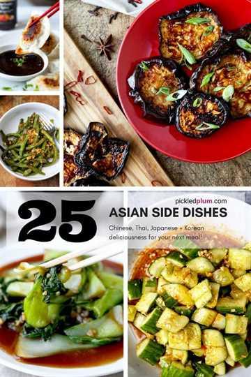 25 Guarniciones asiáticas: sabrosas guarniciones asiáticas que son fáciles y saludables de preparar en casa. ¡Recetas japonesas, chinas, tailandesas, vietnamitas y coreanas para los amantes de la comida asiática! #comida saludable #lapesados #asianfood #thaifood | pickledplum.com