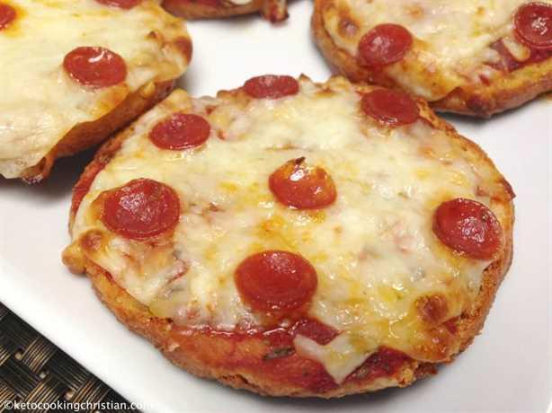 Bagels de pizza de pepperoni - Keto y Low Carb