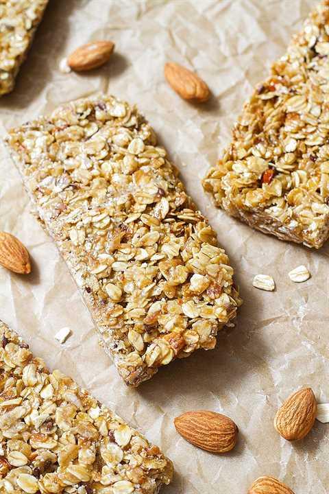 barras de granola caseras saludables