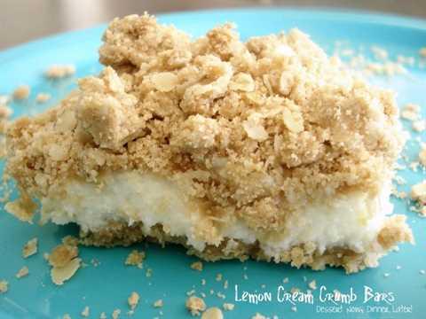 Lemon cream crumb bars