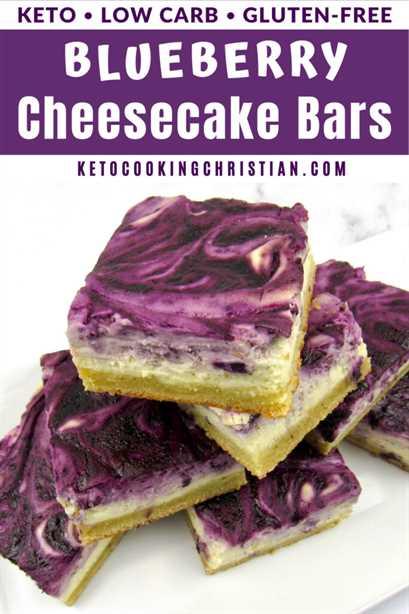 Barras de pastel de queso PIN Keto Blueberry