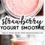 Pin de imagen de batido de yogurt de fresa