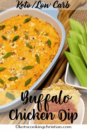 Buffalo Chicken Dip - Keto y Low Carb