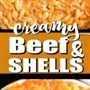 Carne cremosa y conchas