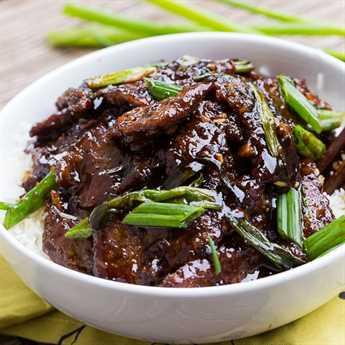 Carne mongol (PF Changs copycat). Tan fácil de hacer y sabe incluso mejor que la cosa real.