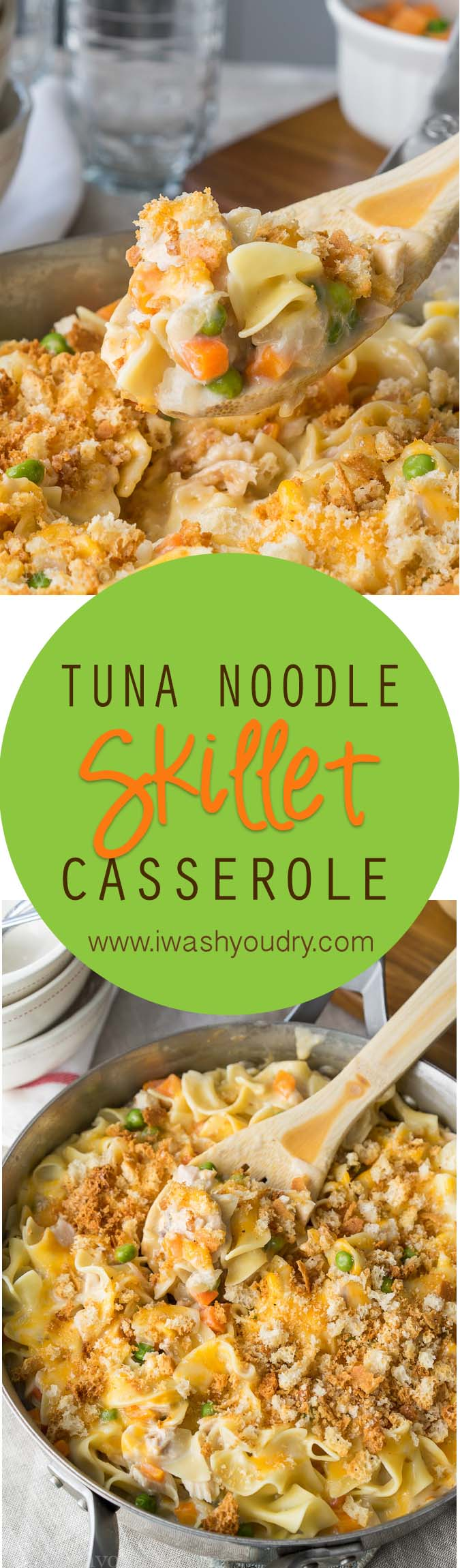 Mom's classic tuna noodle casserole got better! Just a frying pan!
