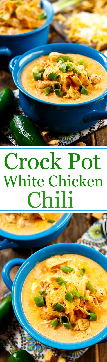 Chile de pollo blanco de cocción lenta