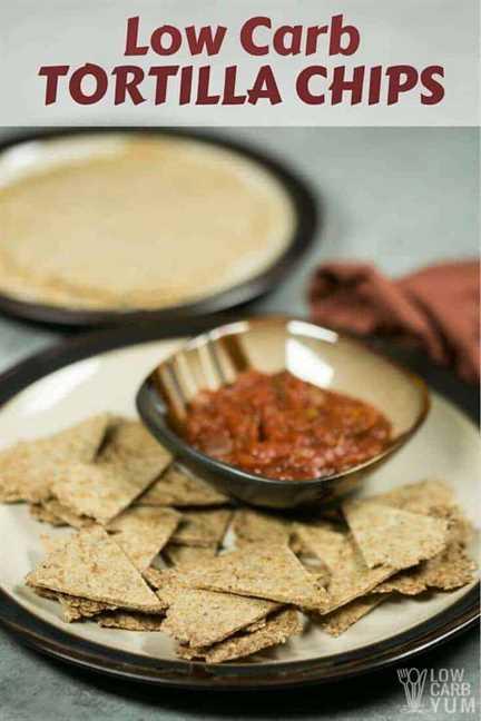 Receta fácil de chips de tortilla baja en carbohidratos