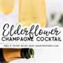 Pin de imagen de cóctel de champán de flor de saúco